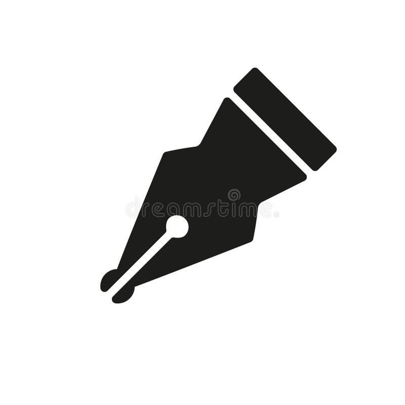 El icono de la pluma Símbolo de la pluma plano libre illustration
