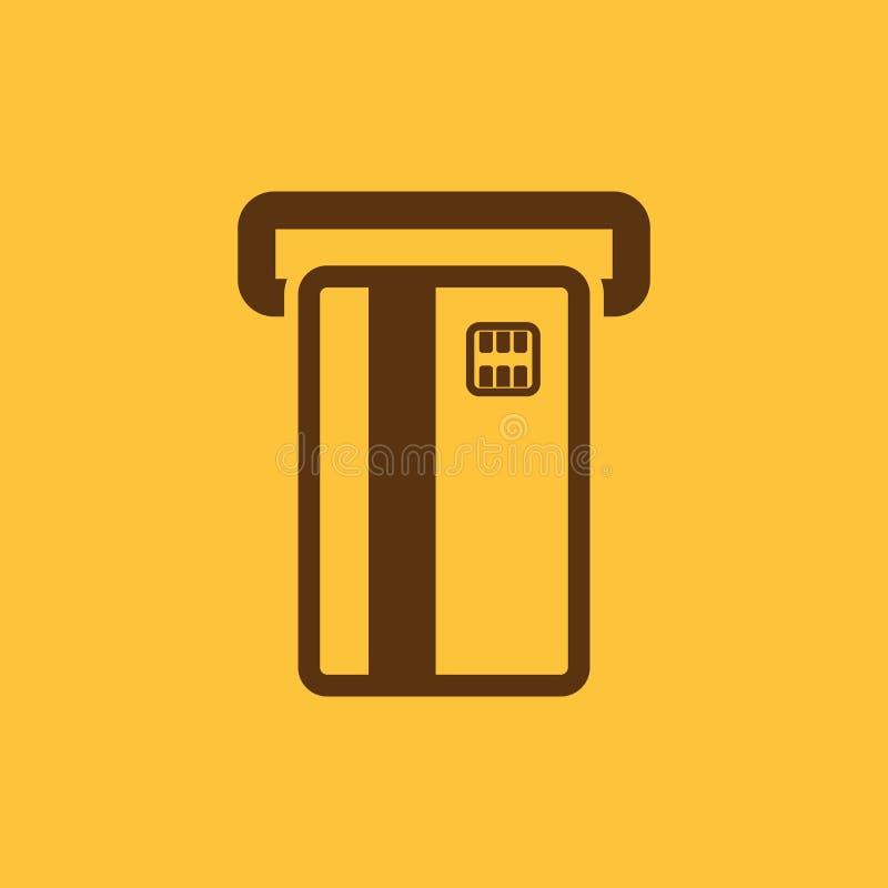 El icono de la ranura de la tarjeta de cajero automático Finanzas y pago, comercio electrónico, creditcard, depositando símbolo p ilustración del vector
