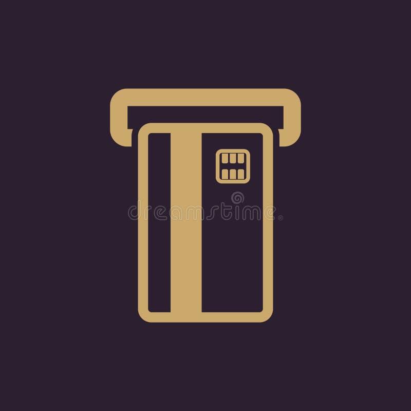 El icono de la ranura de la tarjeta de cajero automático Finanzas y pago, comercio electrónico, creditcard, depositando símbolo p stock de ilustración