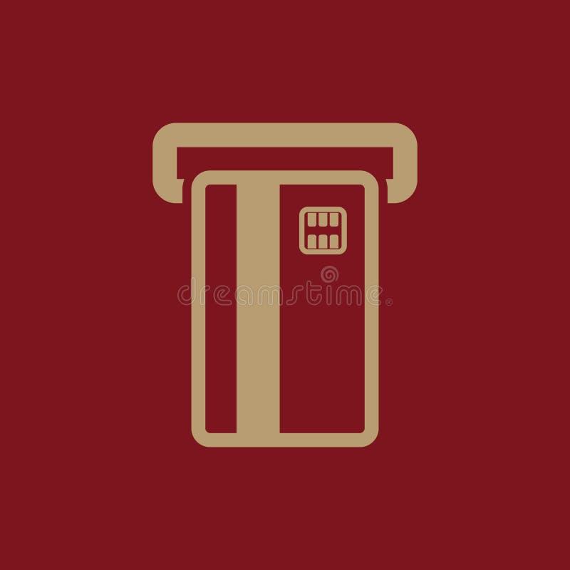 El icono de la ranura de la tarjeta de cajero automático Finanzas y pago, comercio electrónico, creditcard, depositando símbolo p libre illustration