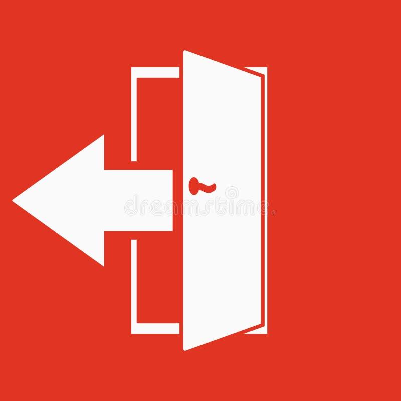 El icono de la salida Salida del sistema y salida, mercado, hacia fuera símbolo plano libre illustration