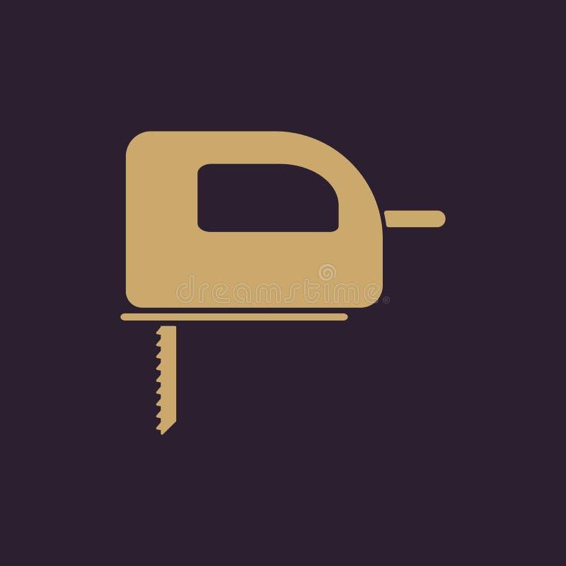 El icono de la segueta Símbolo de la segueta plano stock de ilustración