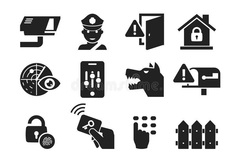 El icono de la seguridad en el hogar fijó 03 libre illustration