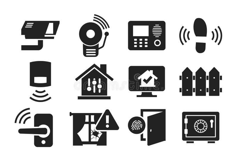 El icono de la seguridad en el hogar fijó 02 stock de ilustración