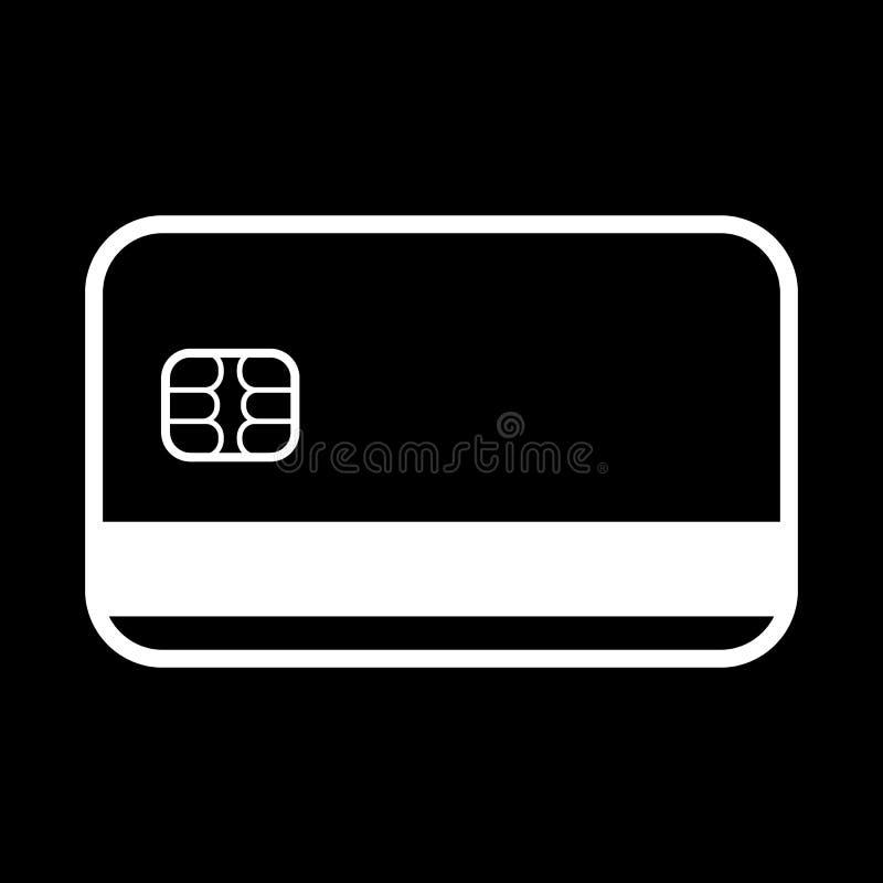 El icono de la tarjeta de crédito Símbolo de la tarjeta de banco ilustración del vector