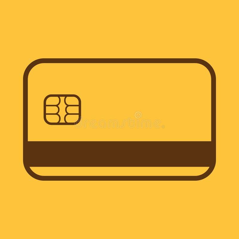 El icono de la tarjeta de crédito Símbolo de la tarjeta de banco stock de ilustración