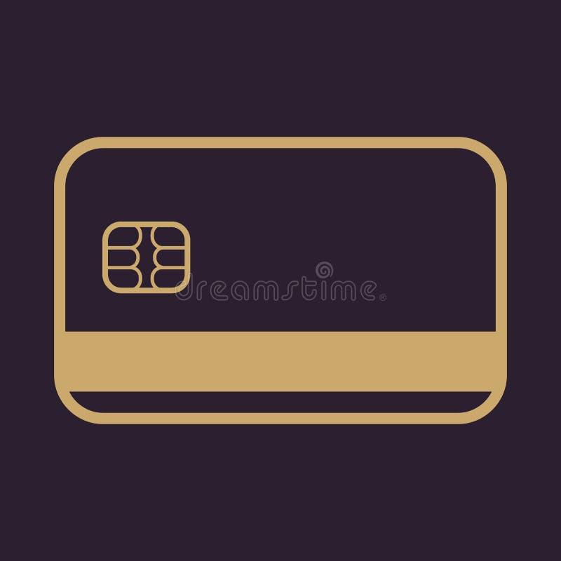 El icono de la tarjeta de crédito Símbolo de la tarjeta de banco libre illustration