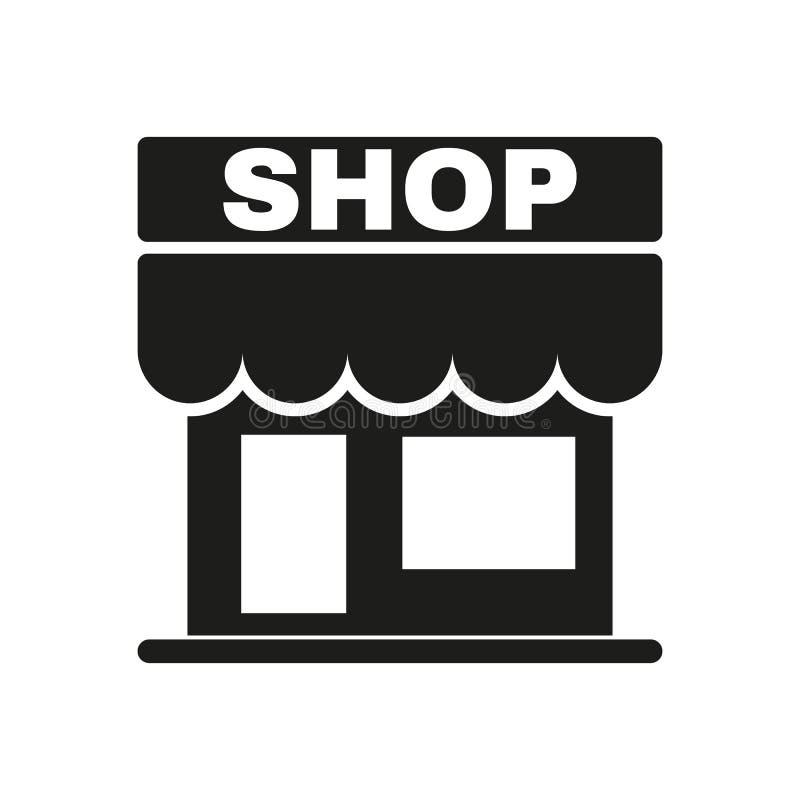 El icono de la tienda Almacene el símbolo plano imagen de archivo libre de regalías