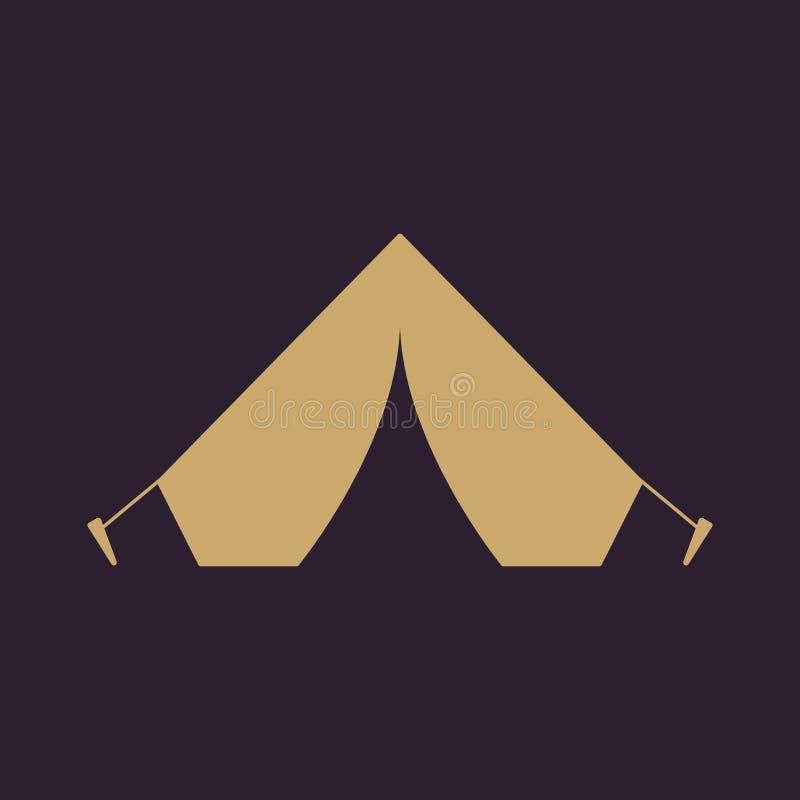 El icono de la tienda Símbolo del viaje plano stock de ilustración