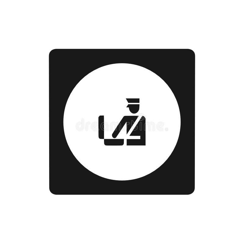 El icono de las aduanas, canta, ejemplo ilustración del vector