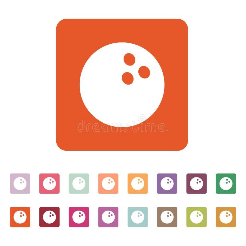 El icono de los bolos Símbolo del juego plano ilustración del vector