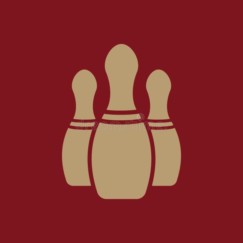 El icono de los bolos Símbolo del juego plano libre illustration