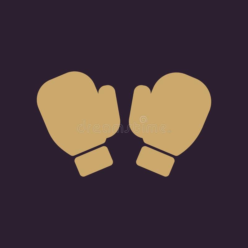 El icono de los guantes de boxeo Símbolo del juego plano libre illustration