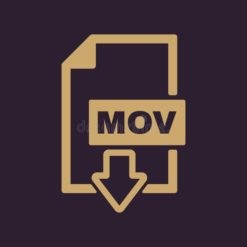 El icono de los MOVIMIENTOS Símbolo del formato de archivo de vídeo plano stock de ilustración