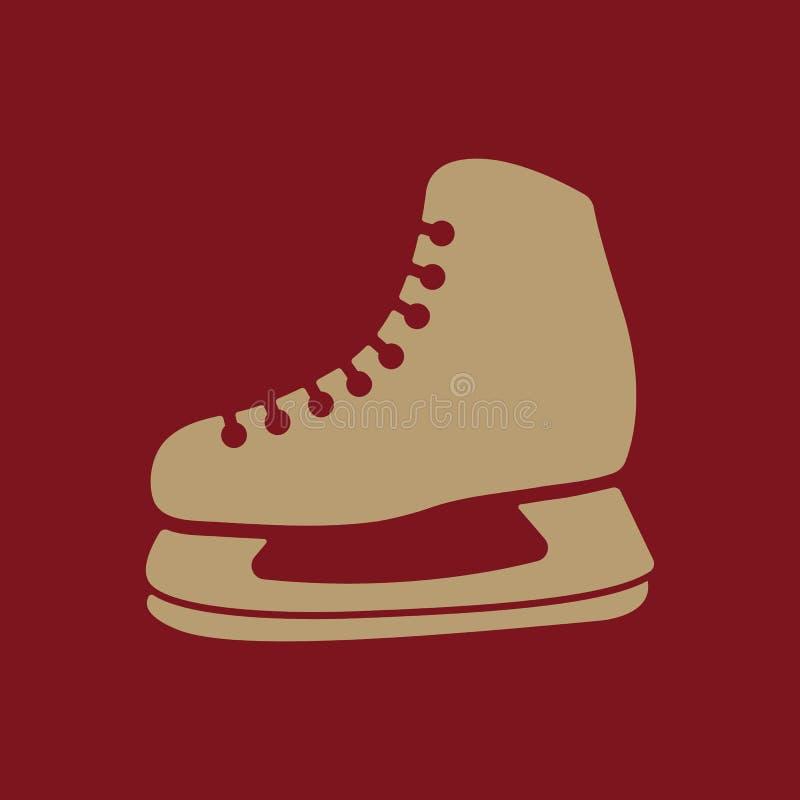 El icono de los patines El hockey patina símbolo plano ilustración del vector