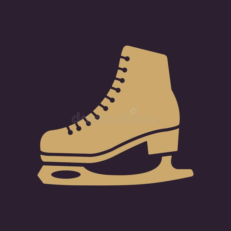 El icono de los patines Figura símbolo de los patines plano libre illustration