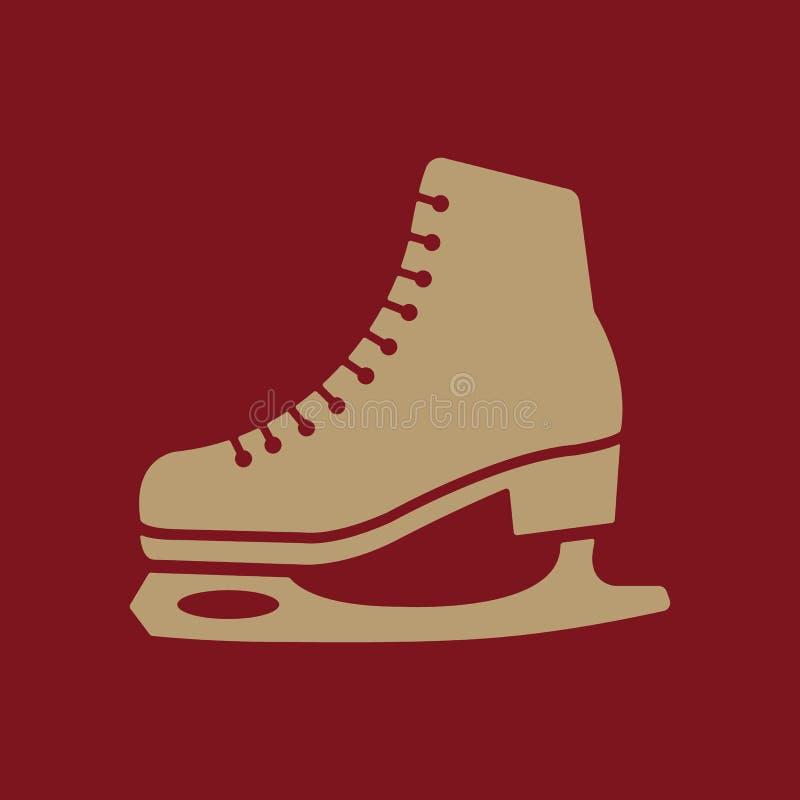 El icono de los patines Figura símbolo de los patines plano ilustración del vector