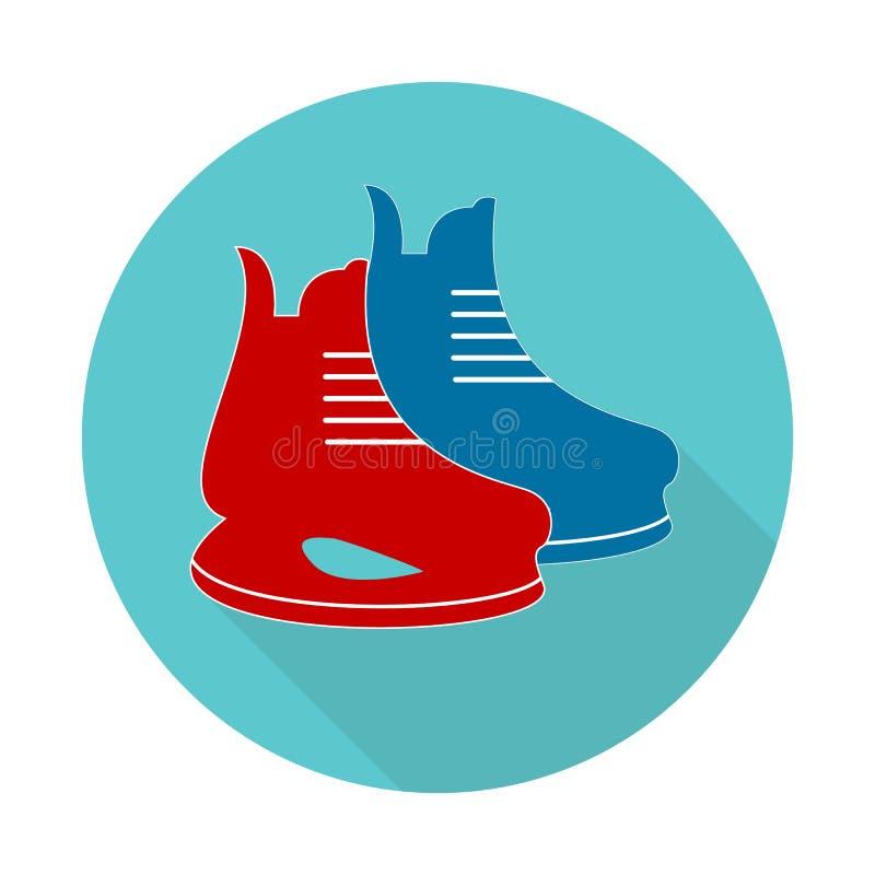 El icono de los patines El hockey patina símbolo Ejemplo plano del vector libre illustration