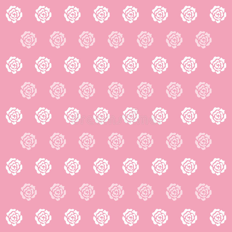 El icono de Rose Pink Pattern Background grande para ningunos utiliza Vector eps10 stock de ilustración