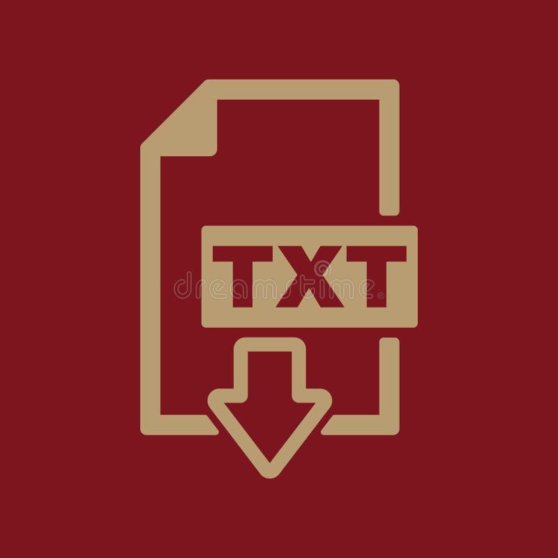 El Icono De TXT Símbolo Del Formato De Archivo De Texto Plano ...