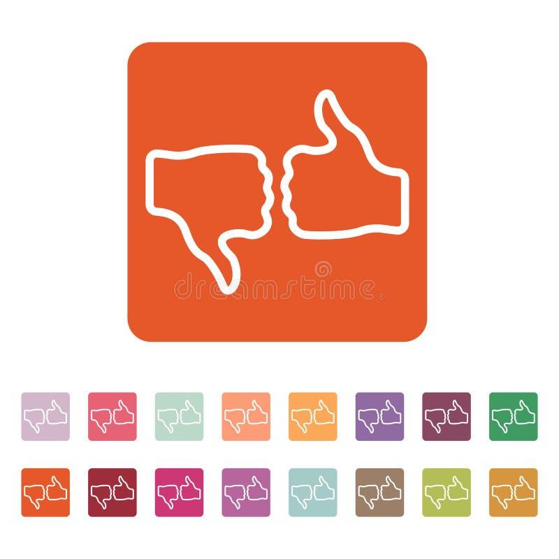 El icono de votación Voto y como símbolo plano ilustración del vector
