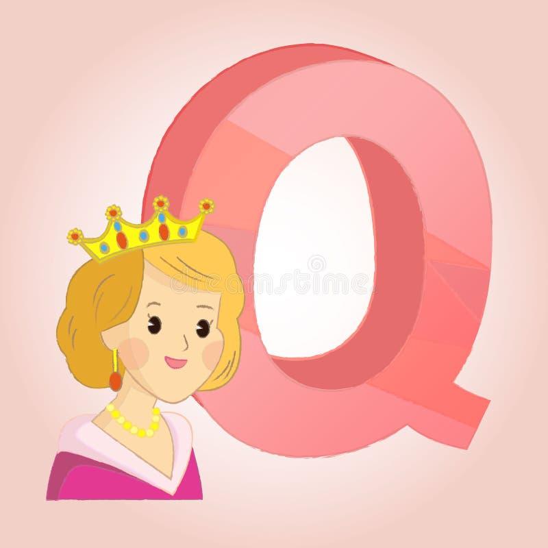 El icono del alfabeto de la reina de Q grande para ningunos utiliza Vector eps10 libre illustration