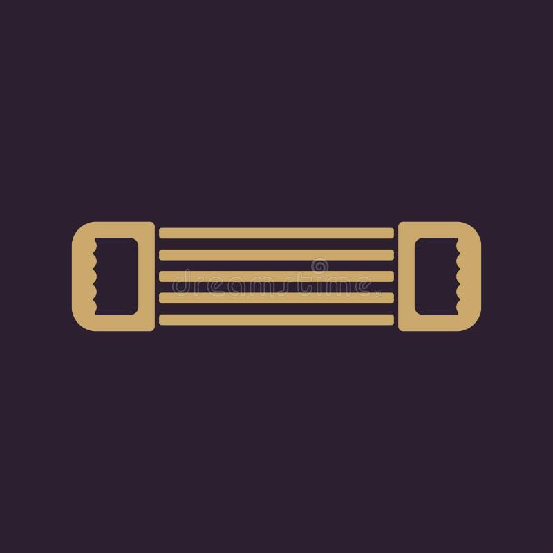 El icono del ampliador Símbolo del ampliador plano libre illustration