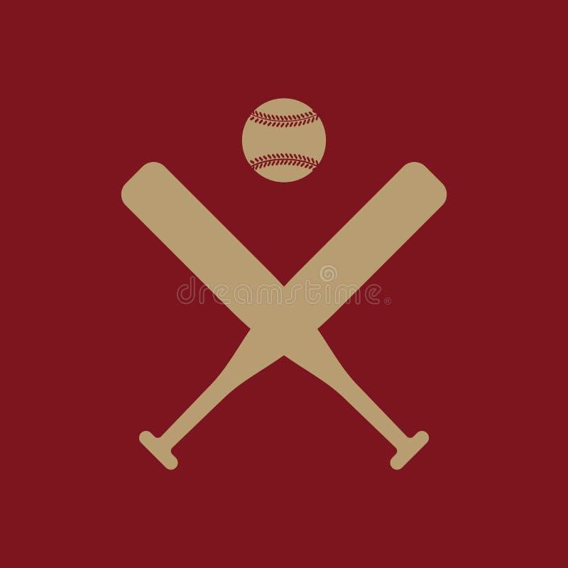 El icono del béisbol Símbolo del deporte plano ilustración del vector