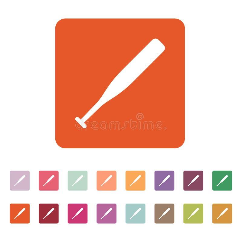 El icono del béisbol Símbolo del juego plano ilustración del vector