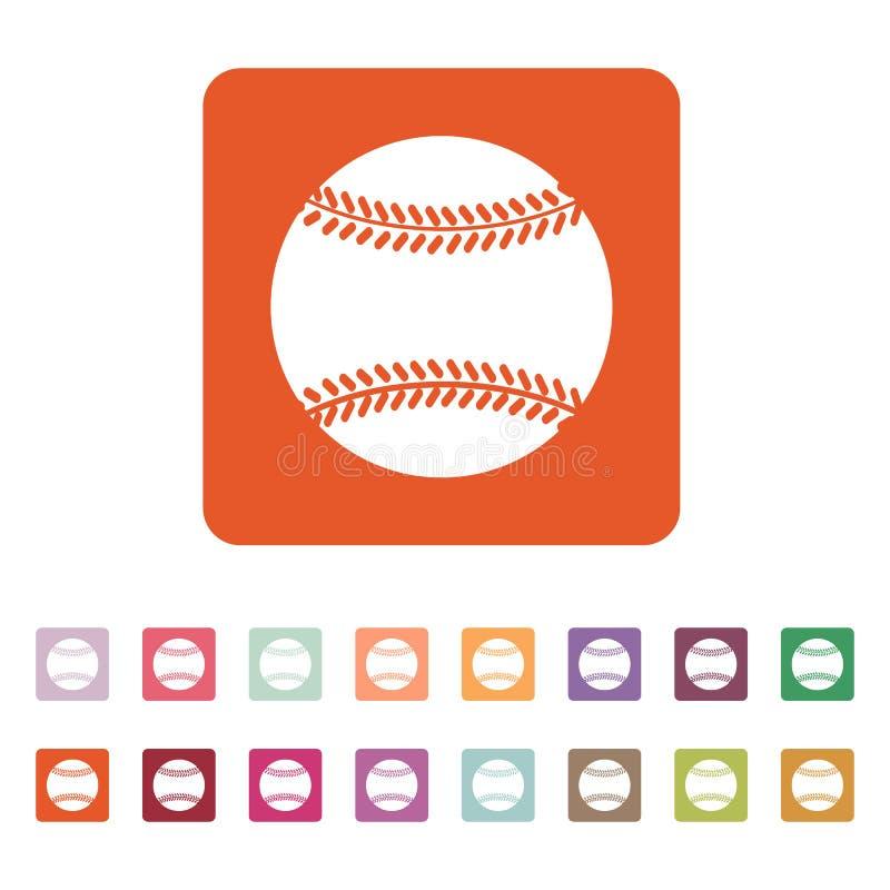 El icono del béisbol Símbolo del juego plano libre illustration