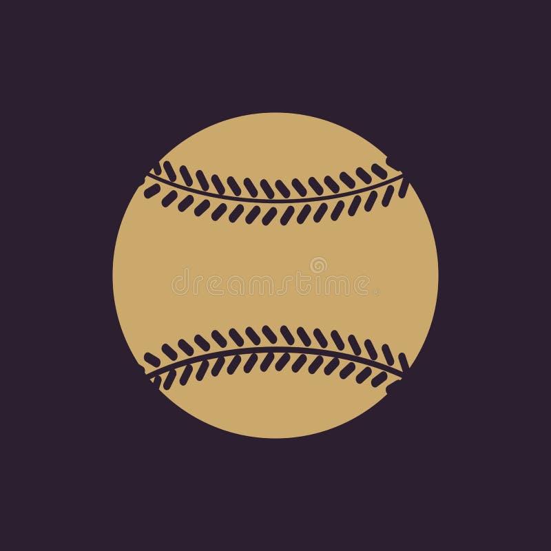 El icono del béisbol Símbolo del juego plano stock de ilustración