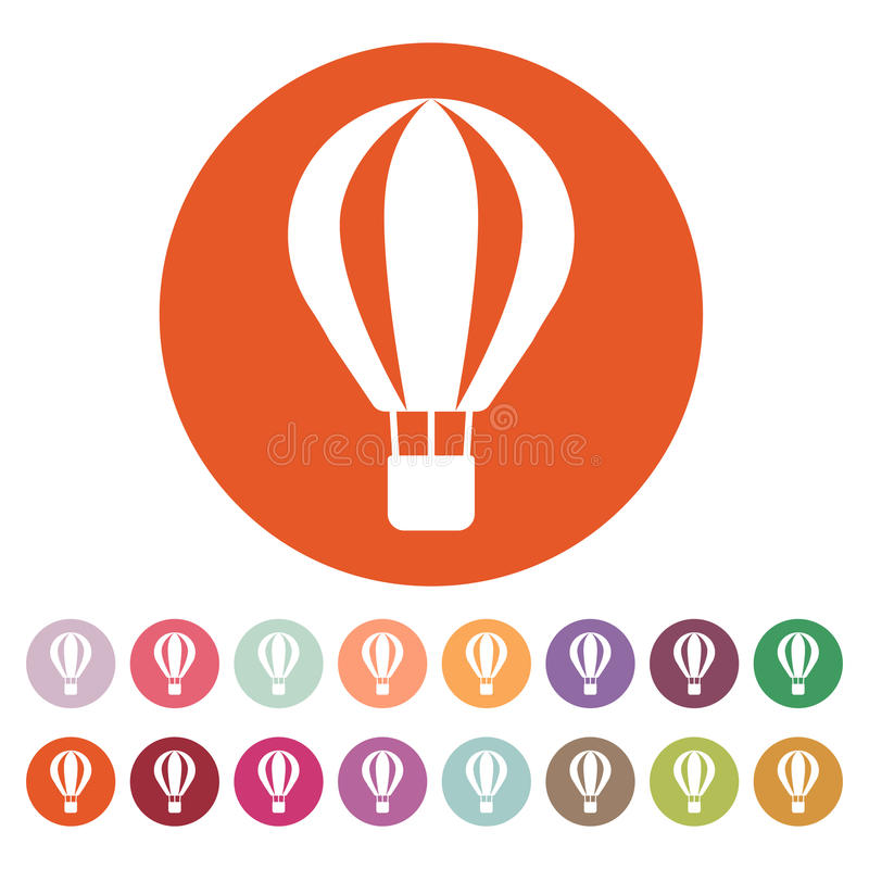 El icono del balón de aire Símbolo del aerostato plano libre illustration