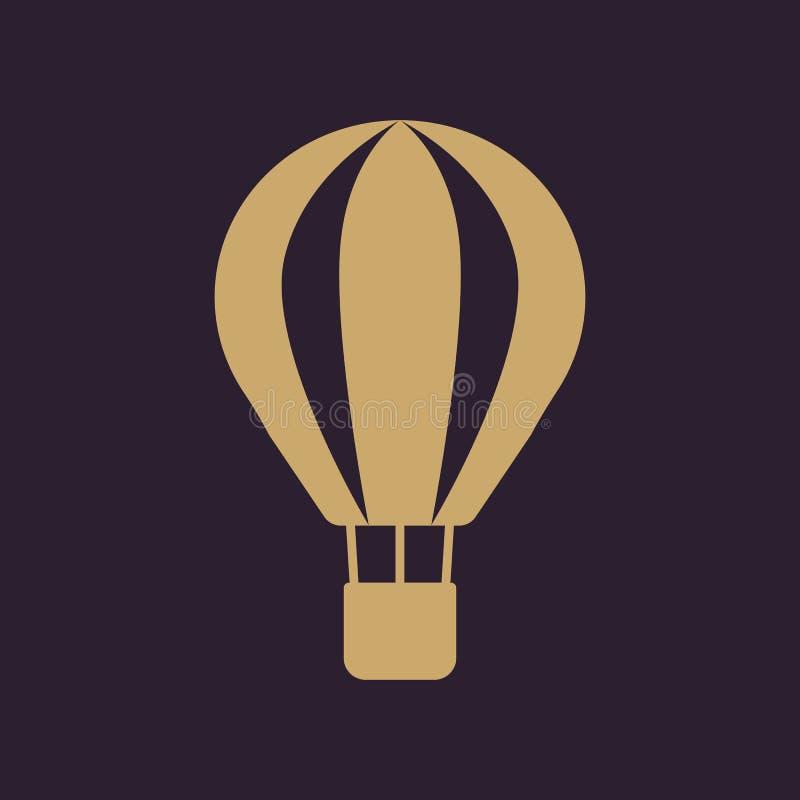 El icono del balón de aire Símbolo del aerostato plano stock de ilustración
