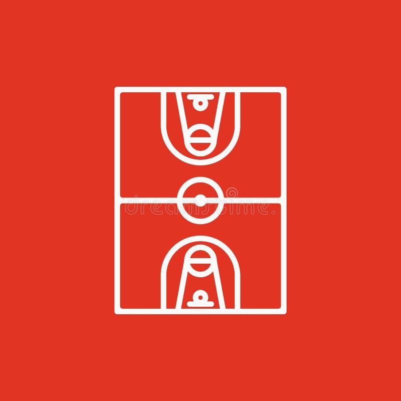El icono del baloncesto Símbolo del baloncesto plano stock de ilustración