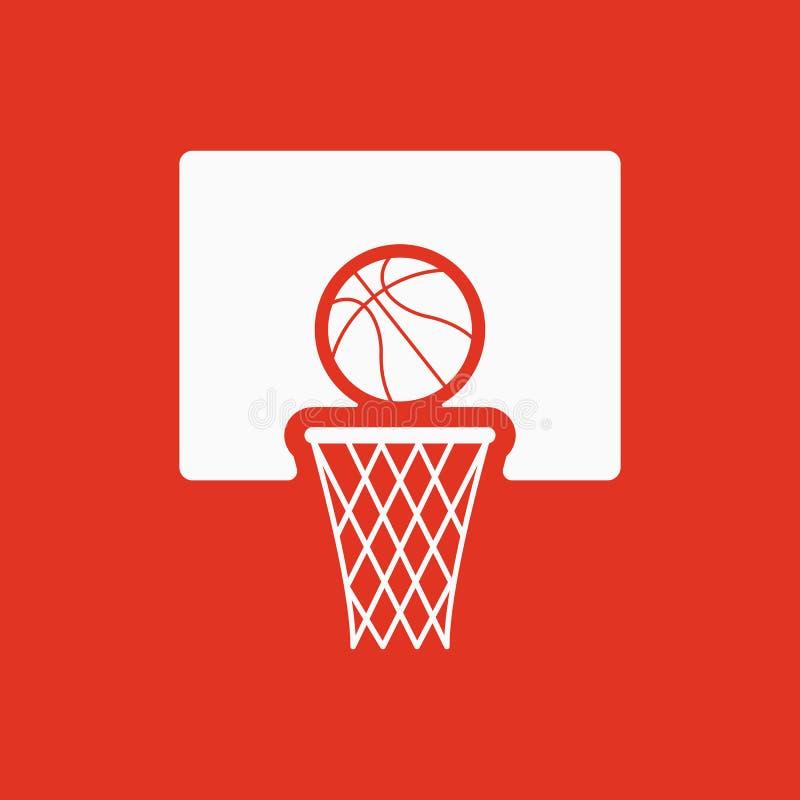 El icono del baloncesto Símbolo del juego plano stock de ilustración