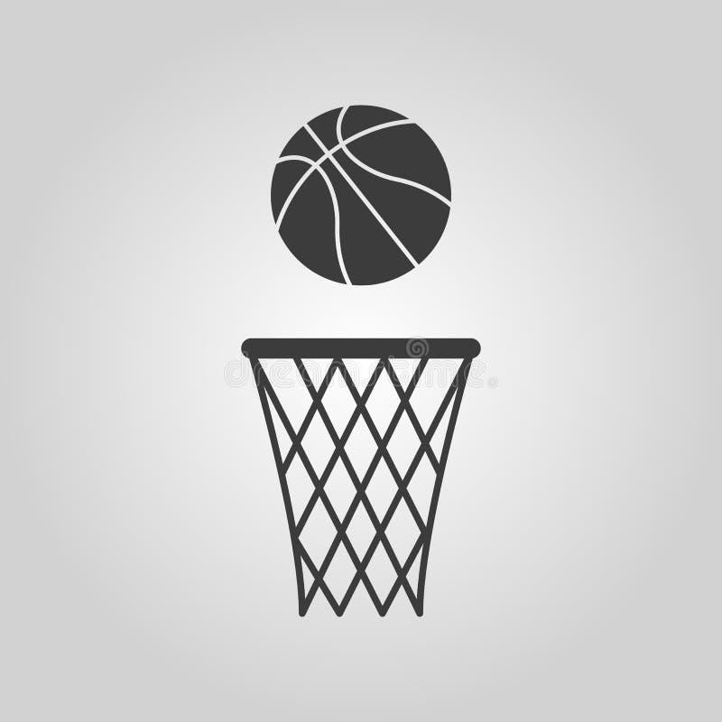El icono del baloncesto Símbolo del juego plano libre illustration