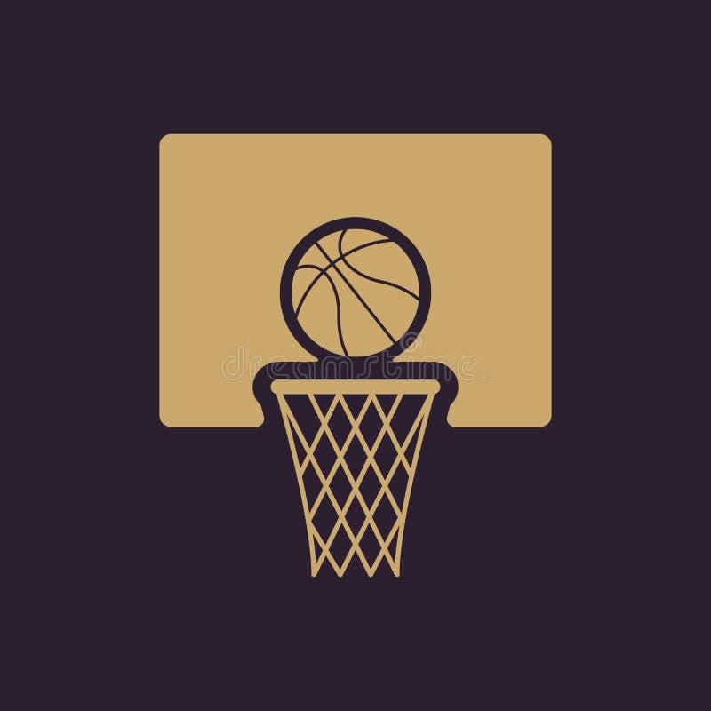 El icono del baloncesto Símbolo del juego plano ilustración del vector