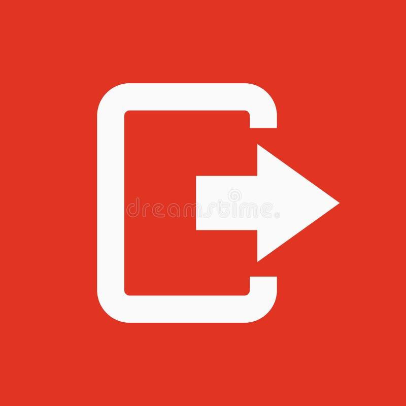El icono del bolso de la salida Salida del sistema y salida, mercado, hacia fuera símbolo plano libre illustration