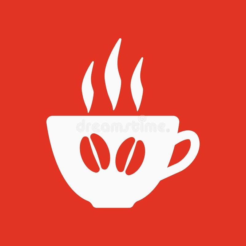 El icono del café y de la taza Símbolo del café y de la taza libre illustration