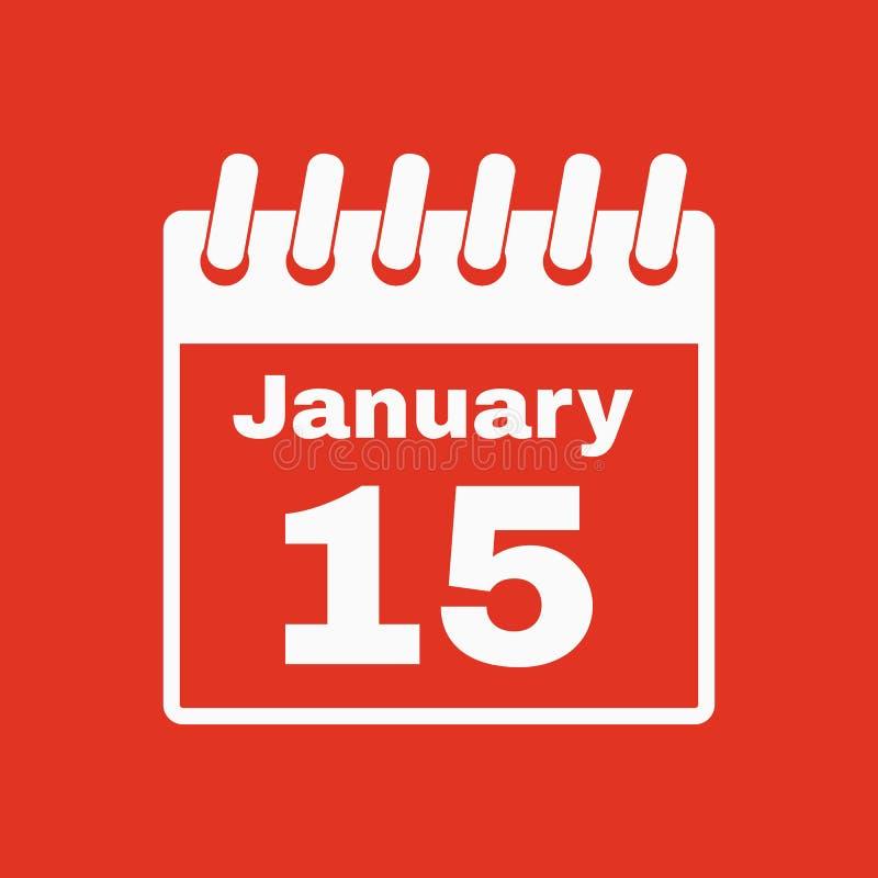 El icono del calendario Símbolo del calendario stock de ilustración