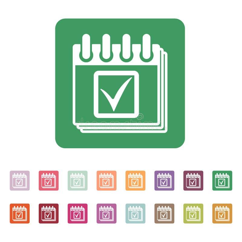 El icono del calendario Símbolo del calendario ilustración del vector