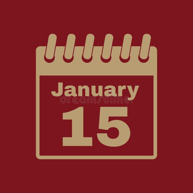 El icono del calendario Símbolo del calendario libre illustration