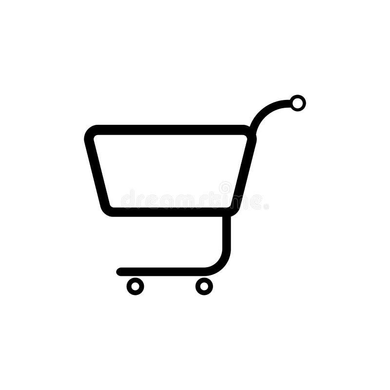 El icono del carro de la compra Carro de compras plano libre illustration