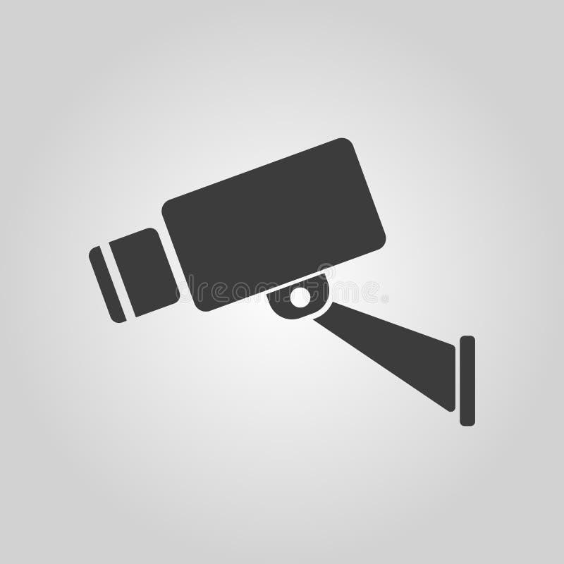 El icono del cctv Cámara y vigilancia, seguridad, símbolo de la observación plano stock de ilustración