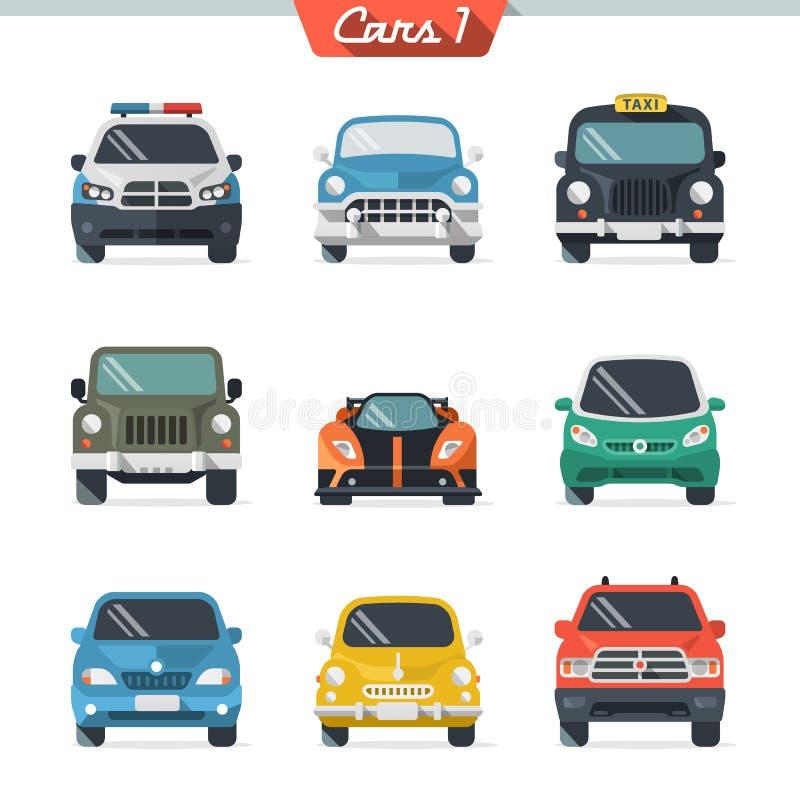 El icono del coche fijó 1 ilustración del vector