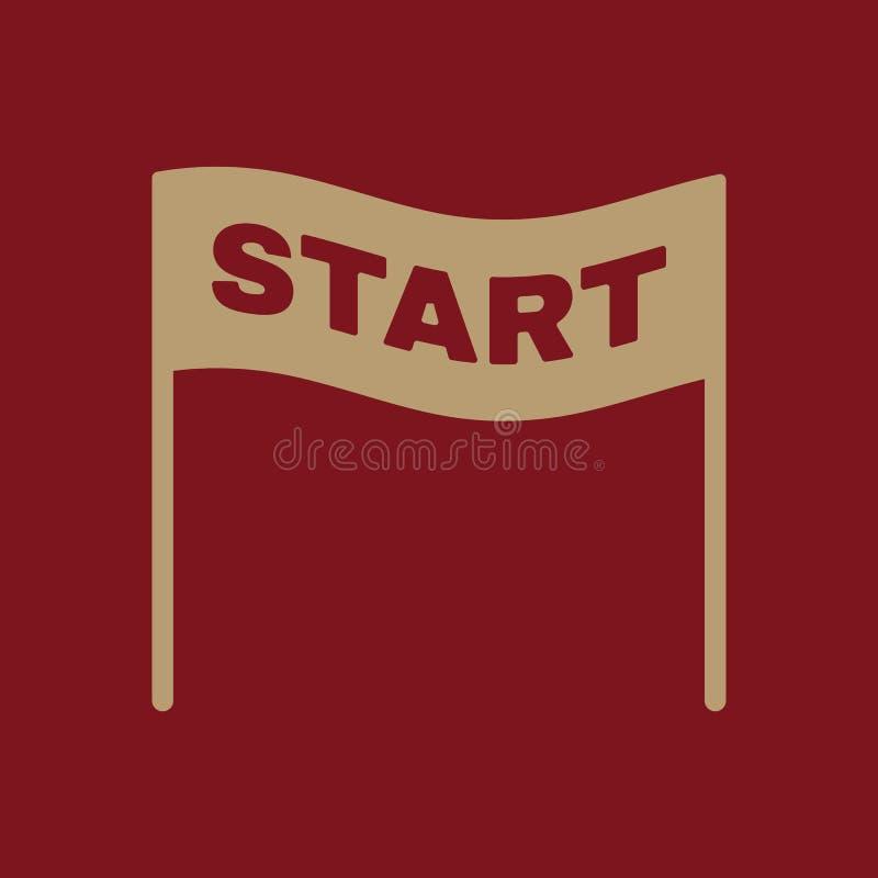 El icono del comienzo Símbolo de inicio plano libre illustration