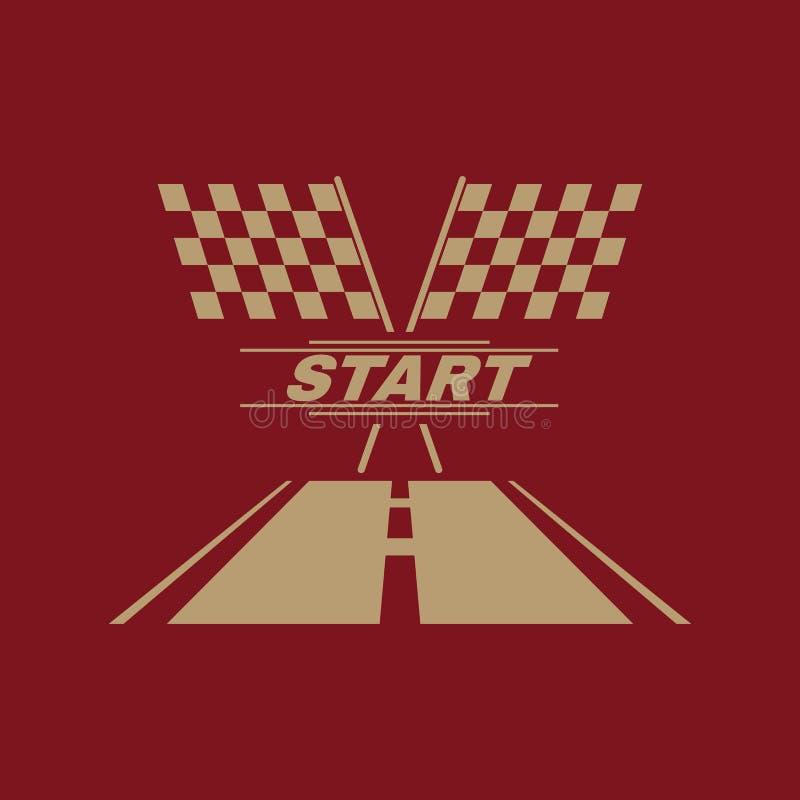 El icono del comienzo Símbolo de inicio plano ilustración del vector