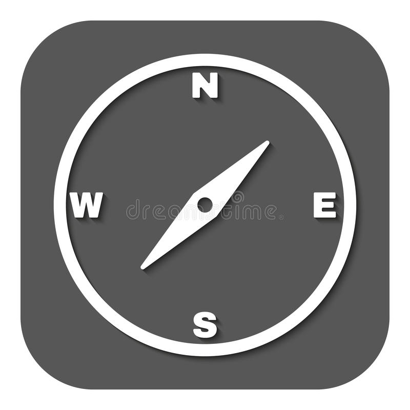 El icono del compás stock de ilustración