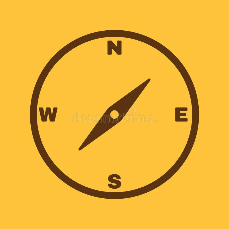 El icono del compás Símbolo del compás ilustración del vector