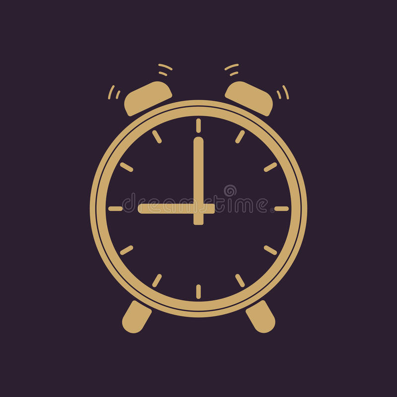 El icono del despertador ilustración del vector